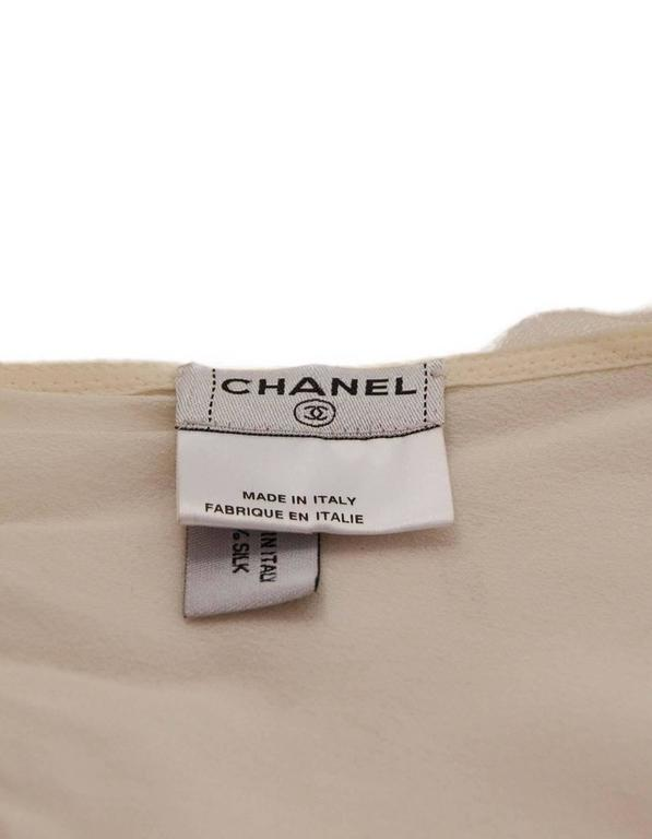 Chanel Sheer Ivory Silk Halter Top Sz 38 4