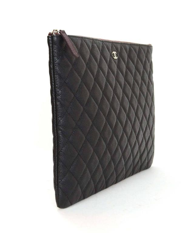 chanel key pouch. chanel black caviar leather quilted o-case clutch/cosmetic bag 3 key pouch