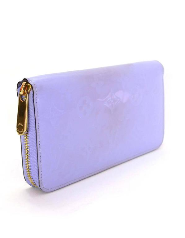 Louis Vuitton Lilac Vernis Monogram Zippy Wallet rt. $970 2