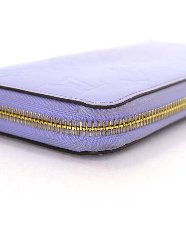 Louis Vuitton Lilac Vernis Monogram Zippy Wallet rt. $970 4