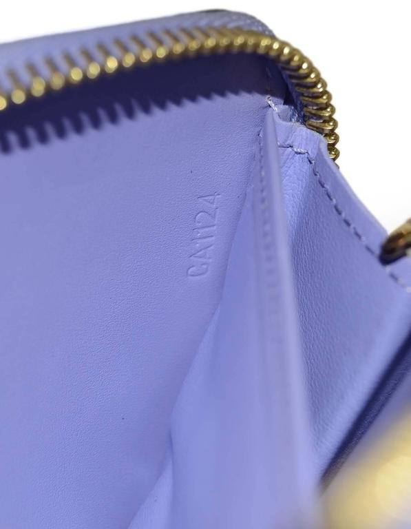 Louis Vuitton Lilac Vernis Monogram Zippy Wallet rt. $970 8