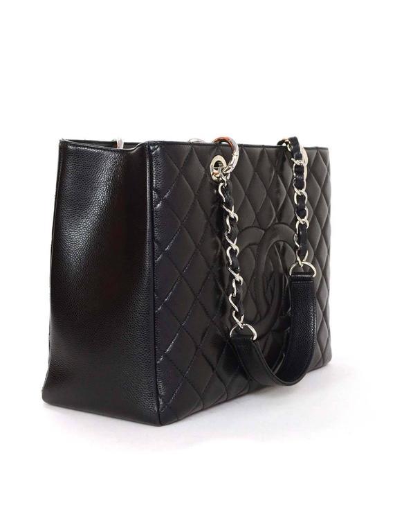 1560b1ff719abc ... Bag For Sale at 1stdibs. Chanel Black Caviar Leather GST Grand Shopper  Tote w/ SHW Box/Card/Dust