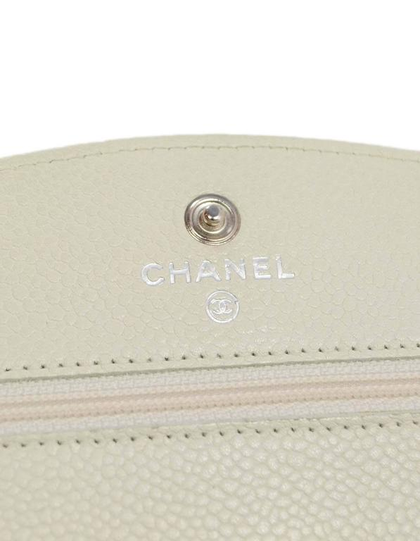 e5a4827898d1 Chanel Ivory Caviar Timeless Wallet On Chain WOC Crossbody Bag SHW For Sale  3