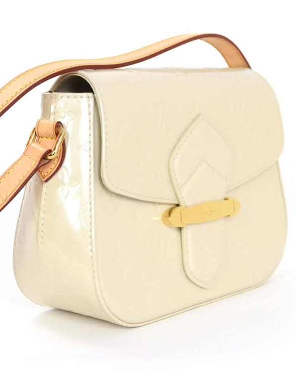 Louis Vuitton Ivory Monogram Vernis Bellflower Pm Crossbody Bag At