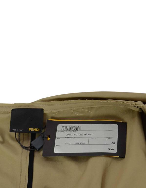 Fendi Beige Cape Jacket Sz 38 NWT rt. $1,990 4