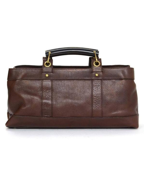 Burberry Brown Leather Handle Bag at 1stdibs