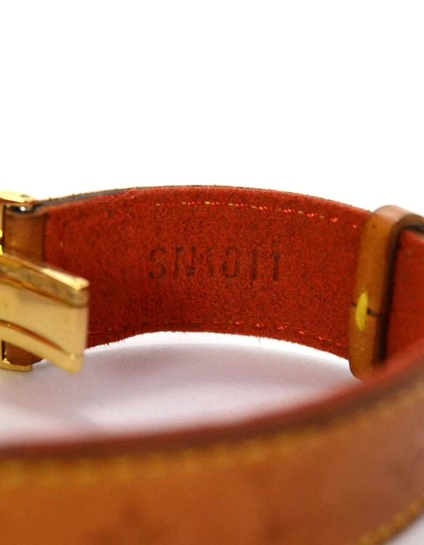Louis Vuitton Tan Leather Wrap Bracelet sz M GHW 6