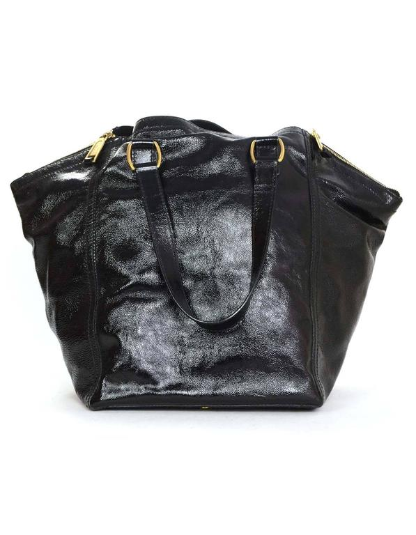 Women s Yves Saint Laurent Black Patent Leather Large Downtown Tote with  GHW For Sale 48b778f184