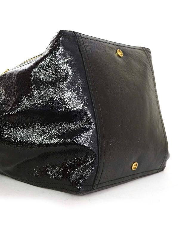 Yves Saint Laurent Black Patent Leather Large Downtown Tote with GHW For  Sale 1 ffb90b0e9e