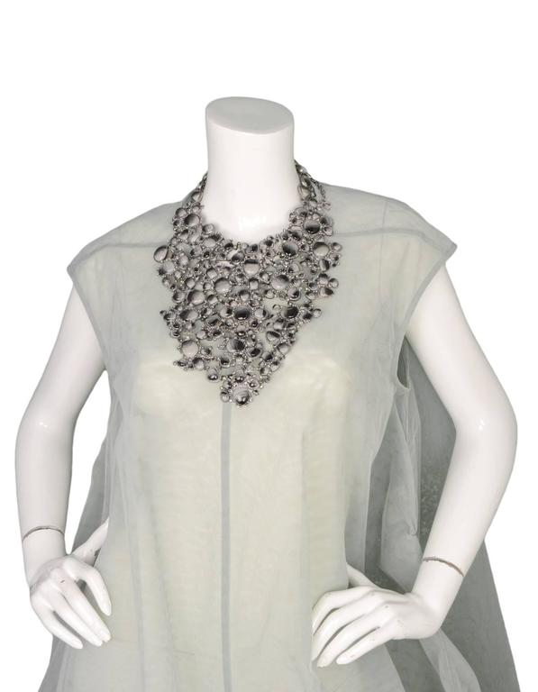 Chanel 2011 Runway Black & Grey Glass/Rhinestone Bib Necklace rt. $10k+ In Good Condition For Sale In New York, NY
