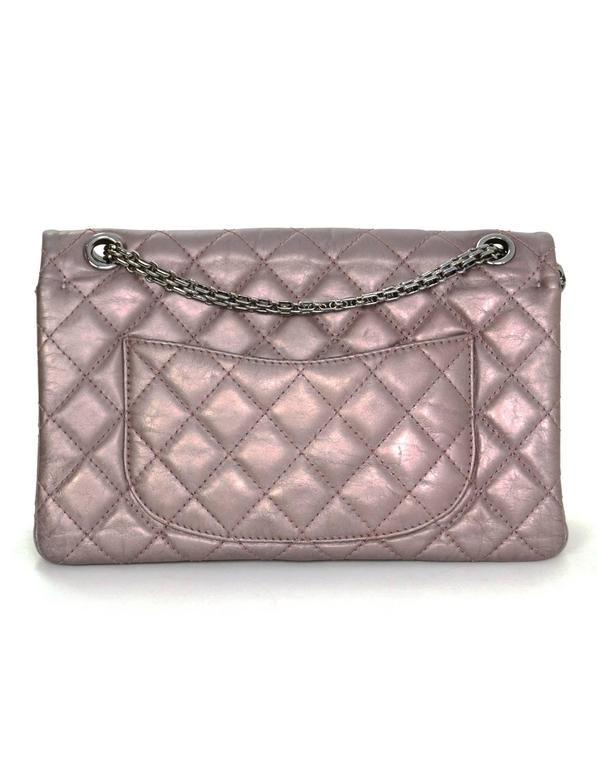 Chanel Muave Metallic Reissue 2.55 225 Medium Double Flap Classic Bag 4