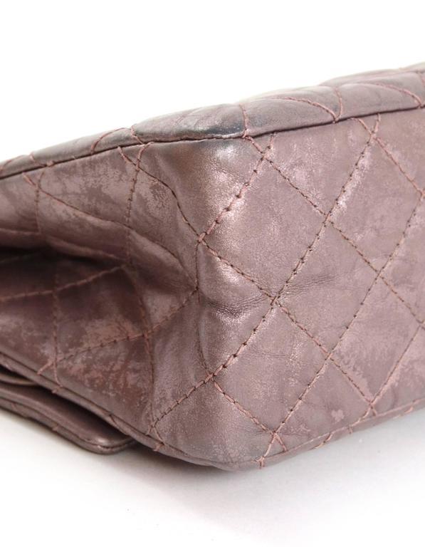 Chanel Muave Metallic Reissue 2.55 225 Medium Double Flap Classic Bag 5