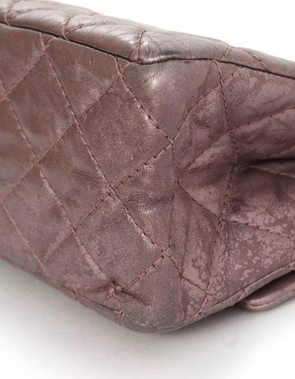 Chanel Muave Metallic Reissue 2.55 225 Medium Double Flap Classic Bag 6