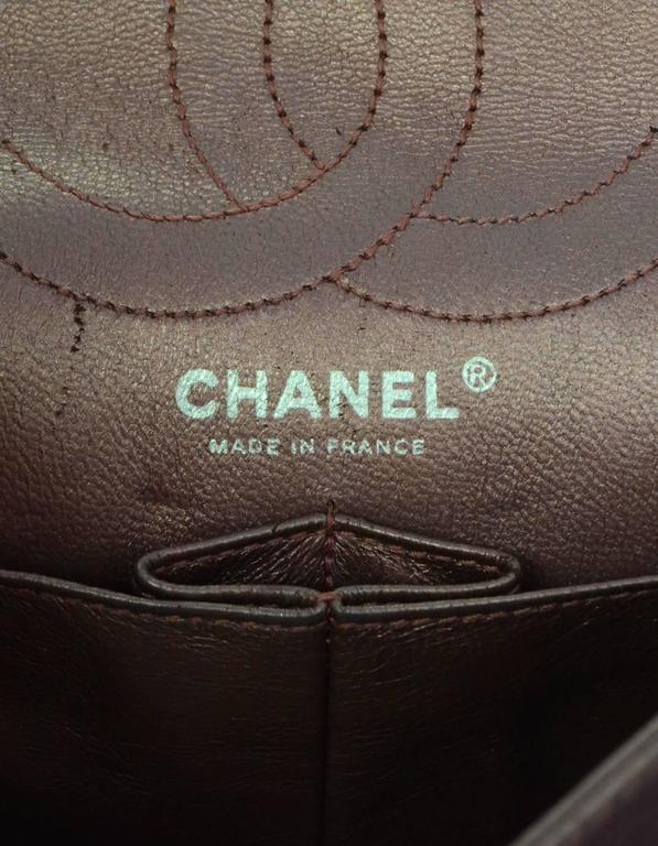 Chanel Muave Metallic Reissue 2.55 225 Medium Double Flap Classic Bag 8