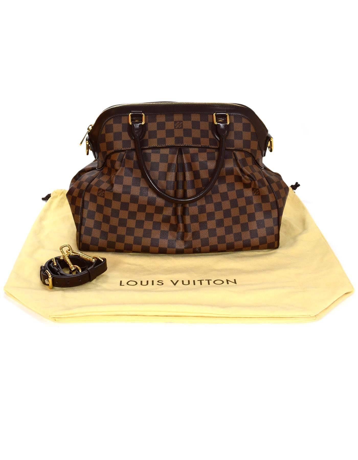 cb0ac21a36d Louis Vuitton Damier Ebene Trevi GM Bag w  Strap rt.  2