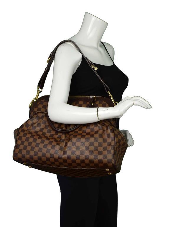 Louis Vuitton Damier Ebene Trevi GM Bag w  Strap rt.  2 e36cd8ce63cf9