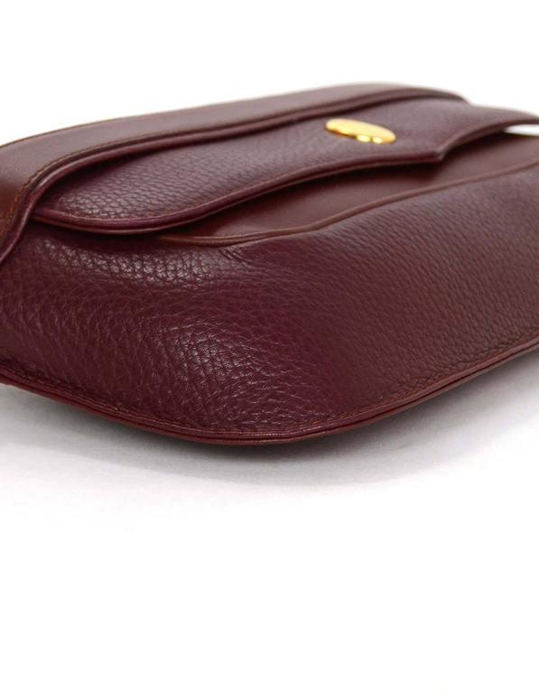 Cartier Burgundy Leather Vintage Envelope Clutch Bag GHW 5
