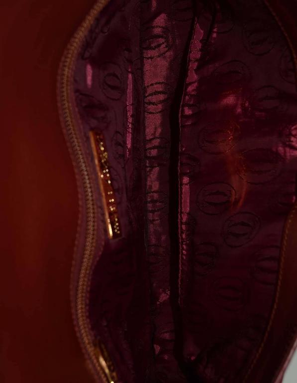 Cartier Burgundy Leather Vintage Envelope Clutch Bag GHW 6