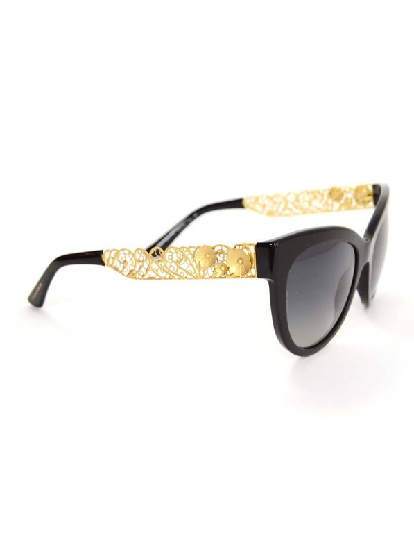 Dolce And Gabbana Baroque Black And Gold Sunglasses For