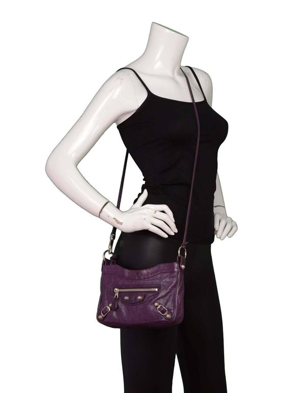 440c75239ac Balenciaga Purple Giant 12 Classic Hip Crossbody Bag Made In: Italy Color:  Purple Year