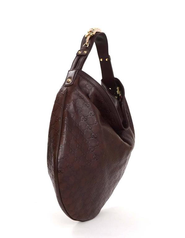 Lyst Gucci Harness Leather Hobo Bag In Brown f00d32dd89851