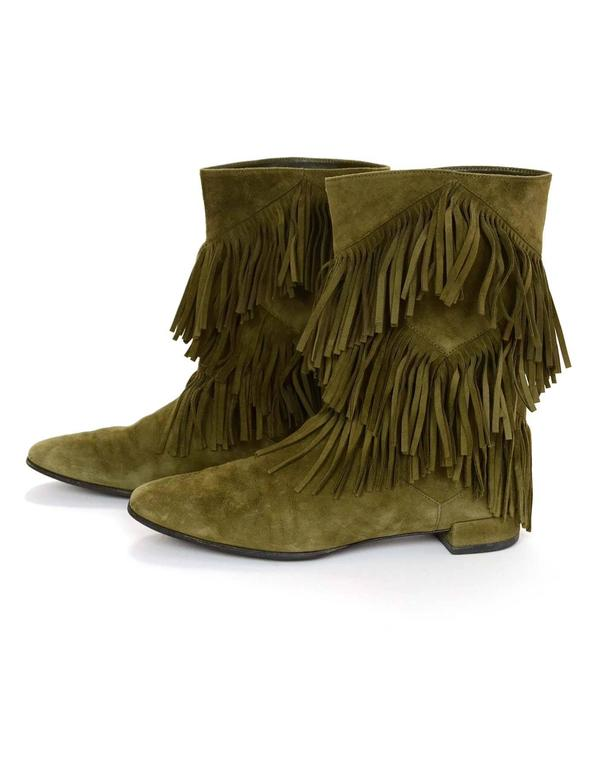 Roger Vivier Woman Fringed Suede Ankle Boots Light Brown Size 36.5 Roger Vivier zr3qXaif
