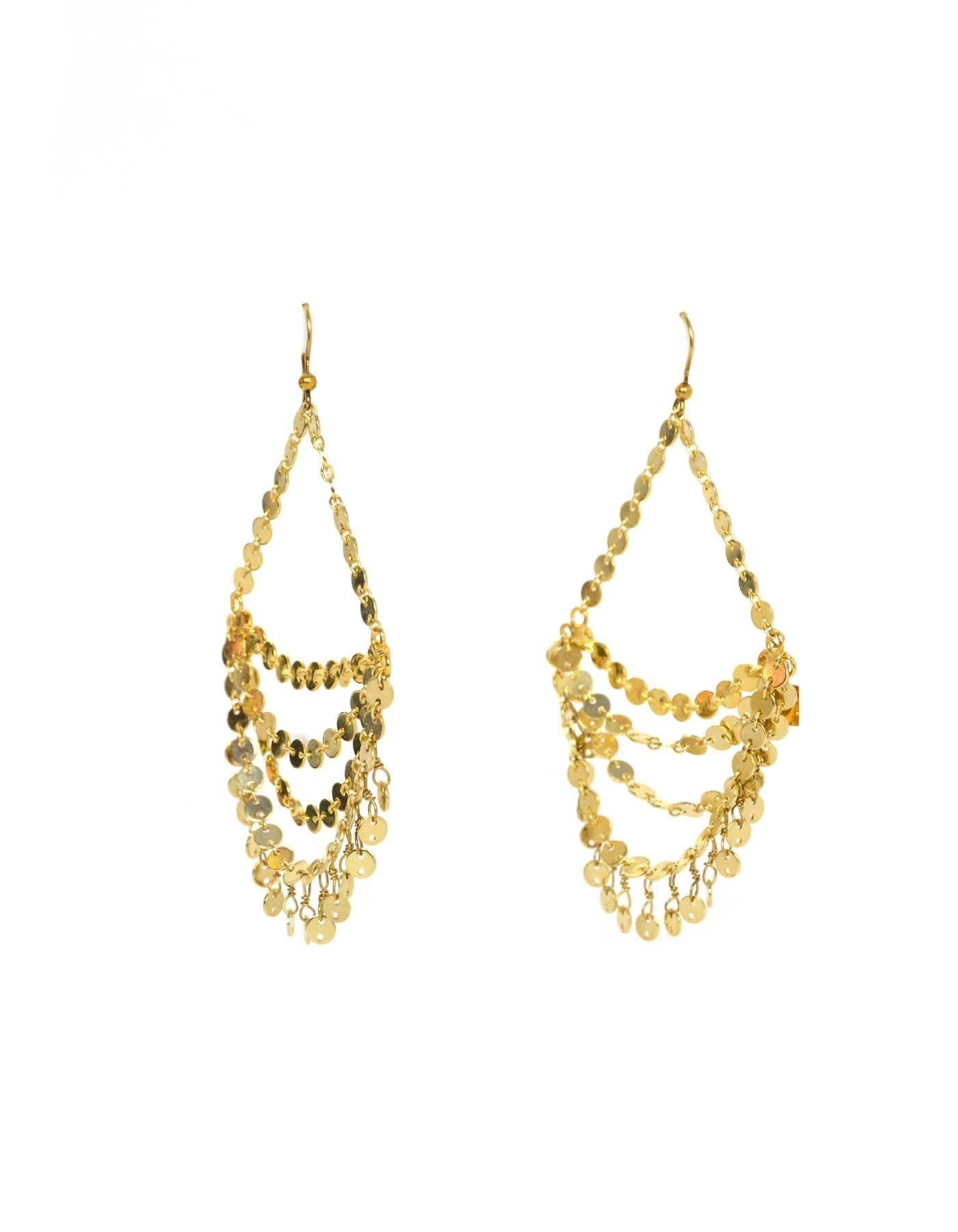 Rosantica goldtone chandelier earrings rt 215 at 1stdibs aloadofball Image collections