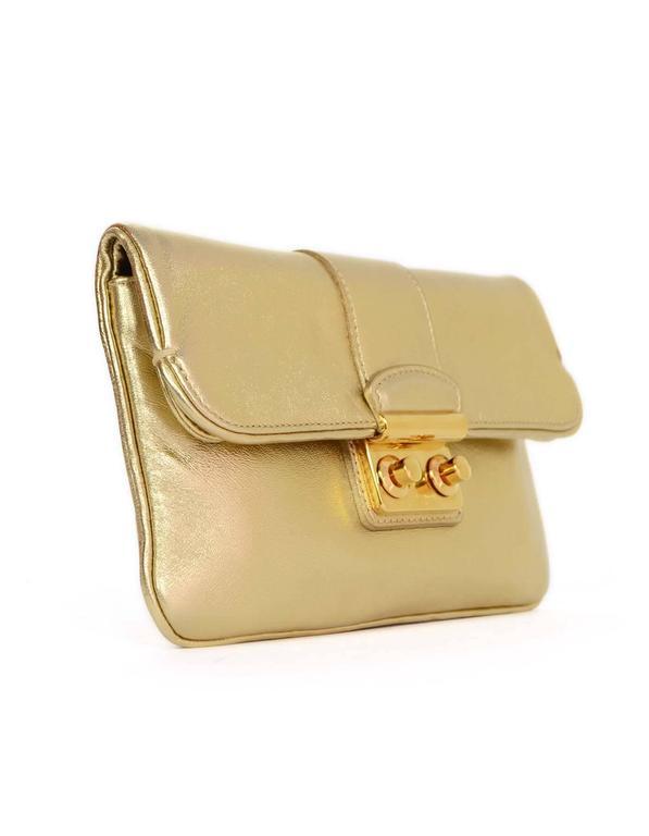 635af5e54403 Louis Vuitton Gold Sofia Coppola SC Slim Clutch Bag rt.  1