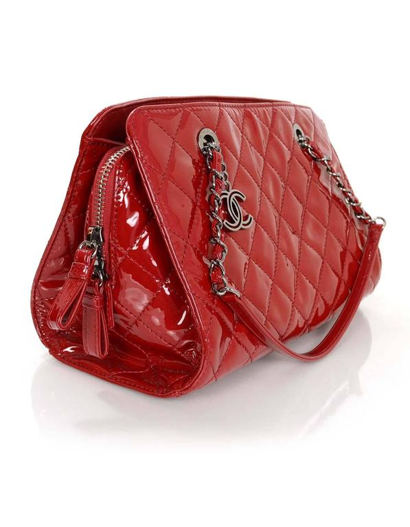 Chanel 2014 Red Patent Leather Quilted Tote Bag rt. $3,900 3