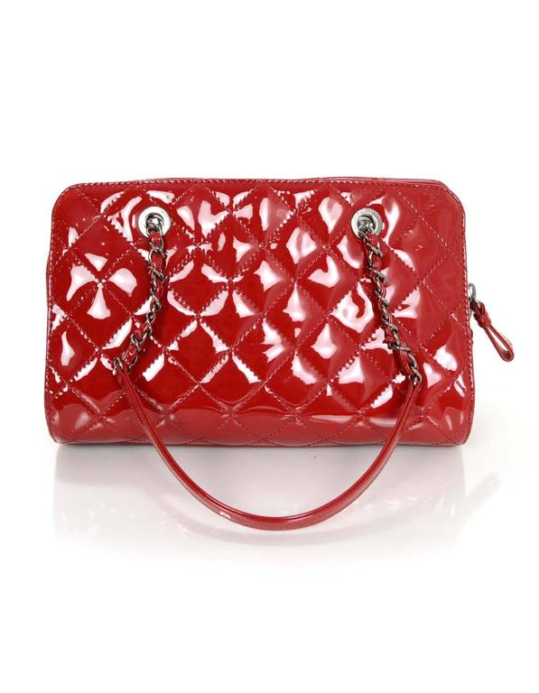 Chanel 2014 Red Patent Leather Quilted Tote Bag rt. $3,900 4