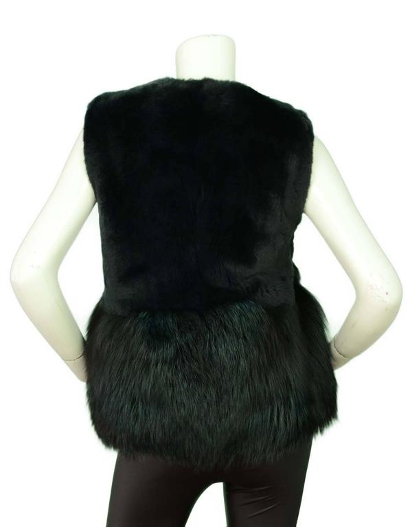 Co Bottle Green Fox and Rabbit Fur Vest Sz Small rt. $3,500 3