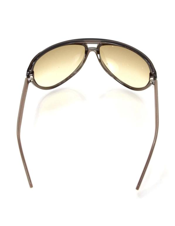 437f226f606 Gucci Brown Aviator Sunglasses For Sale at 1stdibs