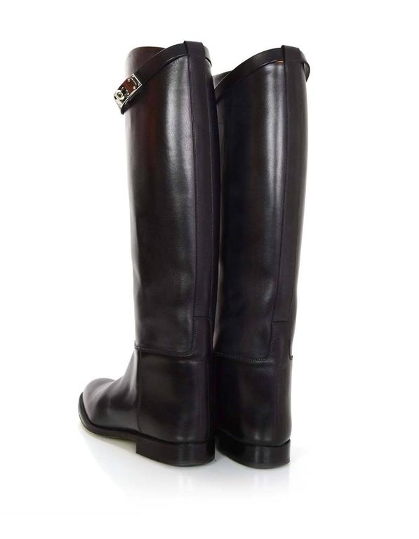 Hermes Black Leather Kelly Jumping Boots Sz 38 rt. $2,825 5