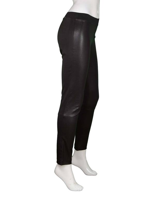 Elyse Overland Black Leather Leggings Sz 4 rt. $1,550 2