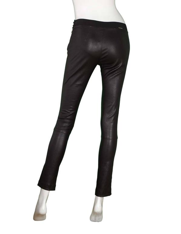 Elyse Overland Black Leather Leggings Sz 4 rt. $1,550 3