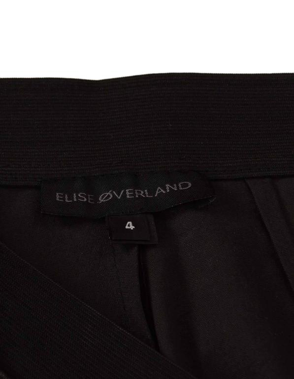 Elyse Overland Black Leather Leggings Sz 4 rt. $1,550 4