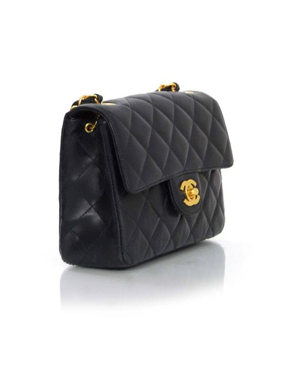 28ce41b5fcca94 Chanel Navy Lambskin Quilted Square Mini Flap Crossbody Bag In Good  Condition For Sale In New