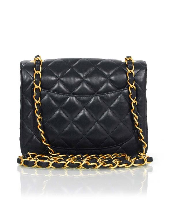 b31564699a1124 Women's Chanel Navy Lambskin Quilted Square Mini Flap Crossbody Bag For Sale