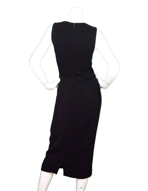Chanel Black Sleeveless Long Dress sz 4 In Good Condition For Sale In New York, NY