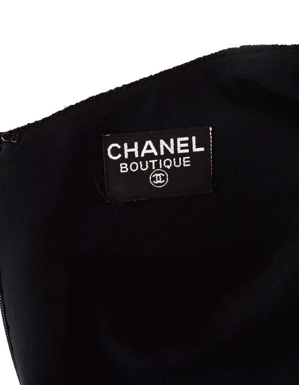 Chanel Black Sleeveless Long Dress sz 4 4