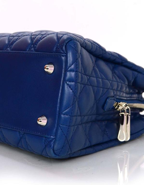 Christian Dior Marine Blue Cannage Quilted Soft Leather ...