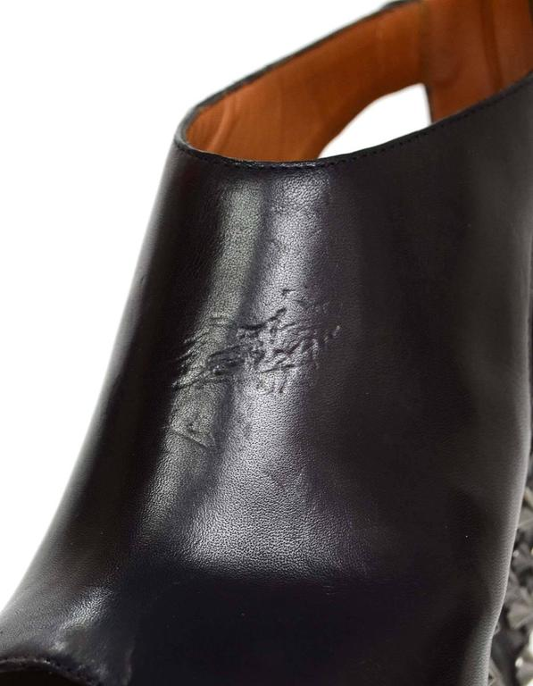 2cbd763d26d Givenchy Black Open-Toe Studded Wedge Ankle Booties Sz 36.5