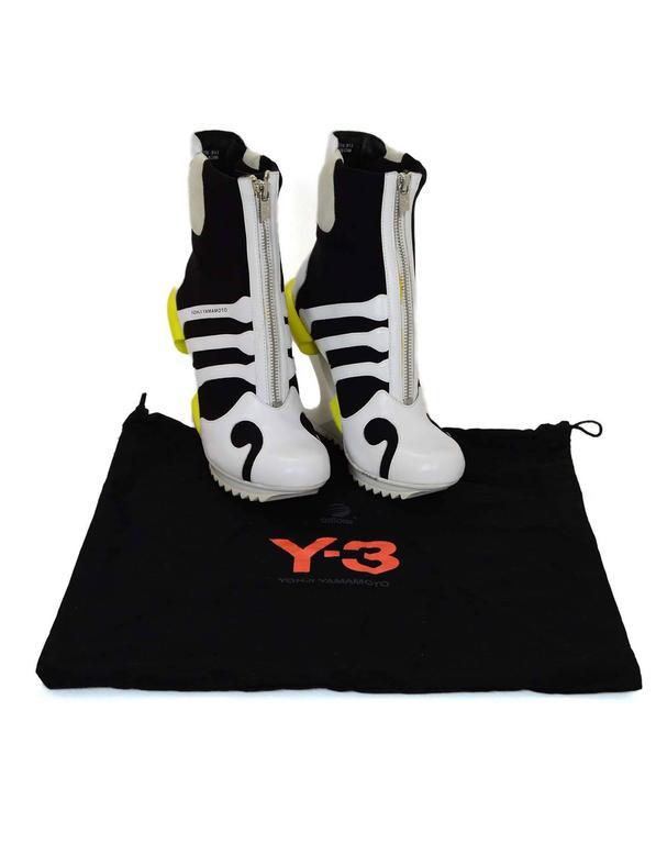 Adidas Y-3 by Yohji Yamamoto Oriah Sneaker Booties Sz 6 For Sale 3