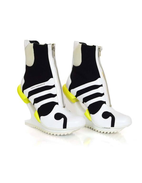 Adidas Y-3 by Yohji Yamamoto Oriah Sneaker Booties Sz 6 4