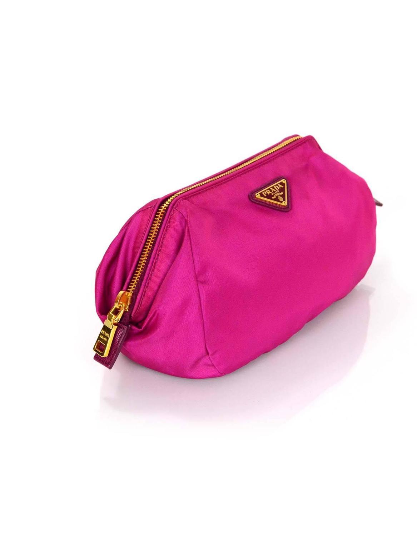 Prada Fuchsia Nylon Makeup Pouch Bag For Sale At 1stdibs
