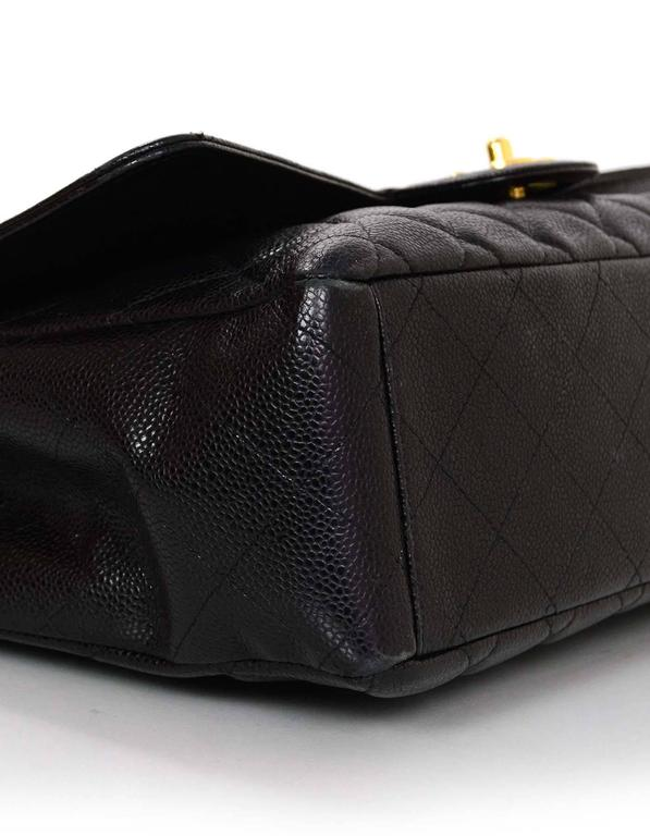 Chanel Black Caviar Leather Quilted Single Flap Maxi Bag GHW rt. $6,000 4