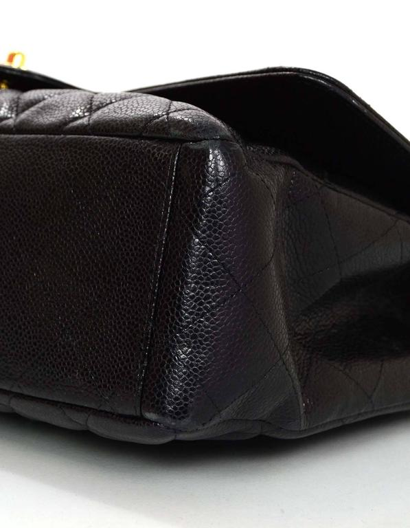 Chanel Black Caviar Leather Quilted Single Flap Maxi Bag GHW rt. $6,000 5