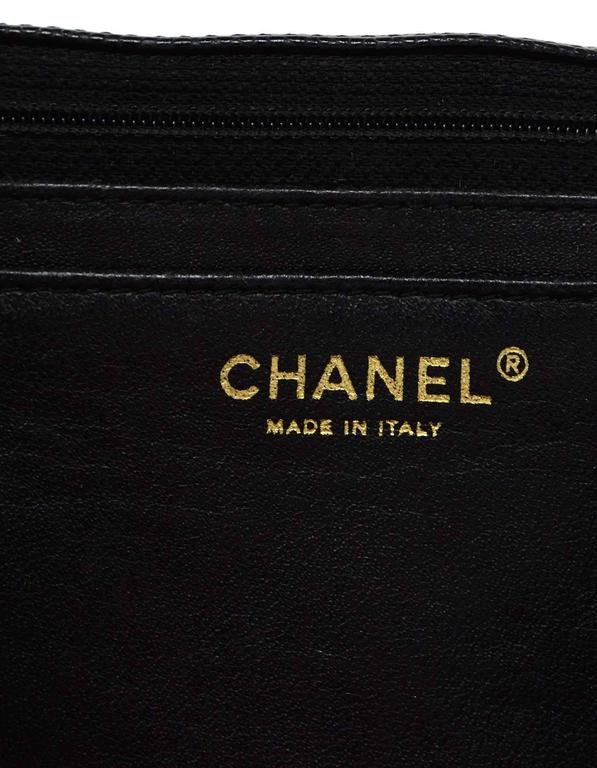 Chanel Black Caviar Leather Quilted Single Flap Maxi Bag GHW rt. $6,000 7