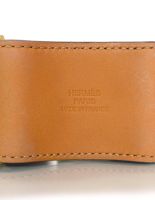 Hermes Black & Gold Collier de Chien CDC Cuff Bracelet sz S For Sale 2