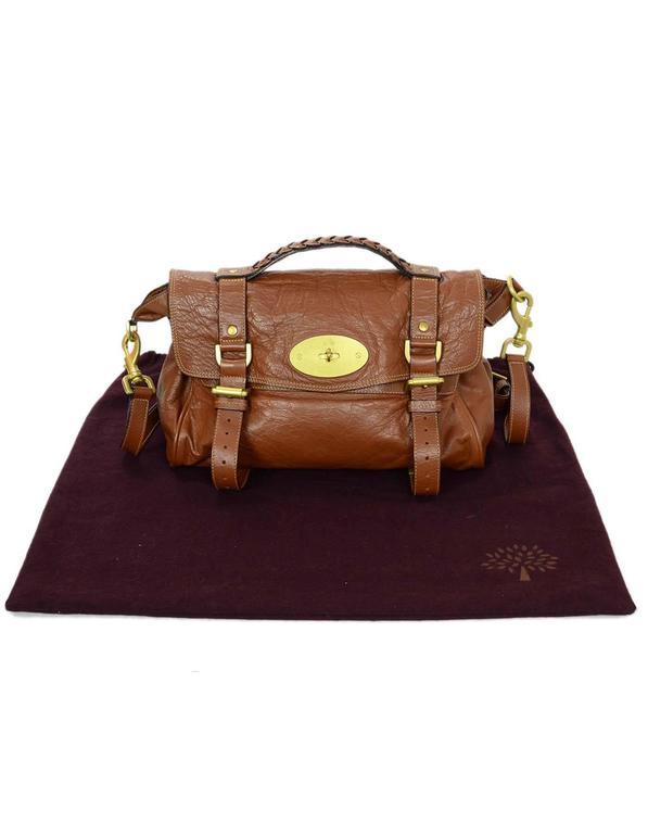 Mulberry Tan Leather Medium Alexa Satchel Bag  For Sale 4